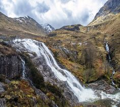 Waterfalls by Frans Van Buynder / Waterfalls, Mountains, Landscape, Nature, Travel, Outdoor, Van, Scotland, Outdoors