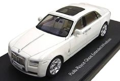 Rolls Royce Ghost English White with Extended Wheel Base 1/43 by Kyosho 05551 - Diecast Model Cars