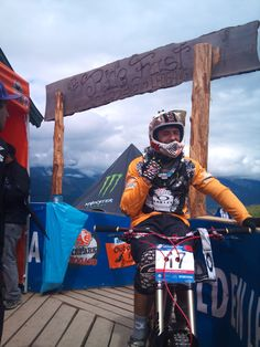 famous Cedric Gracia from France: Downhill Worldcup in Leogang - Austria
