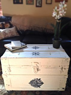 Upholstered Steamer Trunk Coffee Table by StellaBiondaDesigns, $275.00