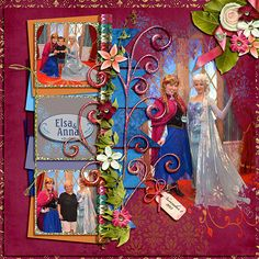 Elsa and Anna - character meet and greet, single page layout