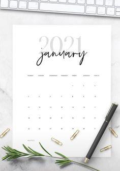 Diy Calendar, Printable Calendar Template, Print Calendar, Calendar Design, 2021 Calendar, Monthly Planner Printable, Printables, Easy, Ink