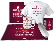 "Nancy Drew: ""Keep Calm and Continue Sleuthing"" merchandise!"