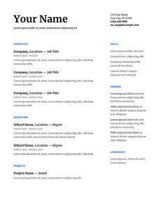 Top Resume Templates Professional Best Basic Resume Template Open Office Resume Templates For College Resume Template, Sample Resume Templates, Best Resume Template, Cv Template, Free Resume, Templates Free, Docs Templates, Basic Resume, Simple Resume