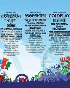 Oxegen Music Festival in Ireland, Europe's Largest... This lineup is from last year, no show for 2012, but JULY 2013 it's on!!
