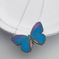 Milla Wooden Butterfly Necklace  Such a cute idea for summer