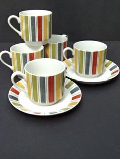 Now available on eBay - Vintage Midwinter Mexicana 5 Cups & 2 Saucers by Jessie Tait