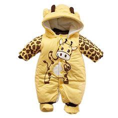 Baby Ladybug Cow Body Suit Autumn Winter Clothing Infant Jumpsuits Romper ** Click on the image for additional details. (This is an affiliate link) #BabyBoyFootiesandRompers
