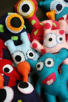Monster favors - Colorful Monster Bash Party - Kara's Party Ideas - The Place for All Things Party
