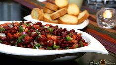 (Omit oil) No-cook (!) Simple Kidney Salad Recipe makes 6 main-dish servings.