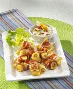 Würstchen im Käse-Speck-Mantel Rezept