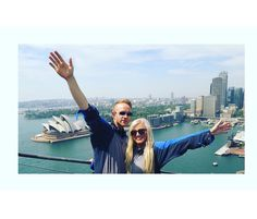 Me and my Crew buddy @benmward85  top of the Sydney Harbour Bridge on our recent work trip..... Opera house in the background  Sooooo stylish  #Bucketlist ..... Absolutley amazing experience  #sydney #Sydneyharbourbridge #wanderlust  #flightattendant #airhostess #blondewandering #airhostess #travel #bucketlist #travelblog #bridgeclimb #sydneyoperahouse #travelblog #theblondeabroad #operabar by blondewandering http://ift.tt/1NRMbNv