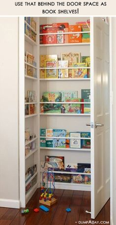 Home Library ~ behind-the-door for children's books
