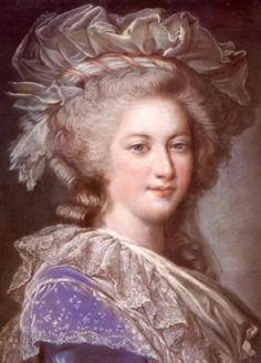 Alexandre Kucharski   A color version of a portrait of Marie Antoinette made by Elisabeth Vigée Le Brun for the Ministére des Affaires Entrangéres on 1785.