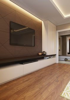 Interior Living Room Design Trends for 2019 - Interior Design Living Room Tv Unit Designs, Living Room Wall Units, Interior Design Living Room, Living Room Decor, Tv Wall Design, House Design, Tv Wanddekor, Tv Wall Cabinets, Tv Unit Decor