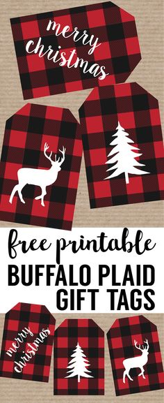 Rustic Christmas labels printable for free. Buffalo plaid christmas labels to print for free. Add these free printable rustic labels, … Christmas Tags To Print, Diy Christmas Tags, Christmas Tags Printable, Christmas Gift Wrapping, Rustic Christmas, Plaid Christmas, Christmas Ideas, Free Printable Gift Tags, Christmas Parties