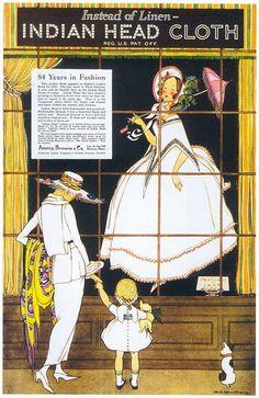 Marjory C. Woodbury, Indian Head Fabric, 1918 by Gatochy, on Flickr