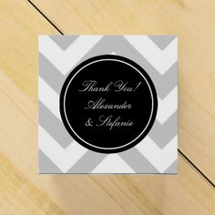 Personalized wedding favor boxes | grey chevron
