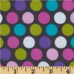 Michael Miller Diddly Dot Flannel Orchid