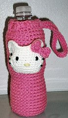 Hello Kitty Water Bottle Cover: free pattern