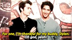 Tyler Posey and Dylan O'Brien Teen Wolf Quotes, Teen Wolf Funny, Teen Wolf Memes, Teen Wolf Dylan, Teen Wolf Cast, Stydia, Sterek, Dylan O'brien Funny, Mtv Shows