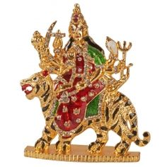Get 25% OFF #GoldenTableTopDurgajiwithSher at Puja Shoppe.The Golden Table Top Durga ji with Sher is beautifully handcrafted and perfectly finished divine item.