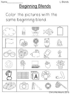 Printables S Blends Worksheets s blends worksheets pack initials game of and good ideas