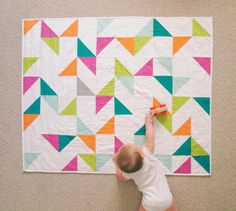 The Confetti Quilt: Birthday Party Modern by VKmadequilts on Etsy