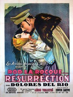 Ressurection (1927) starring Dolores del Río, Rod La Rocque and Rita Carewe