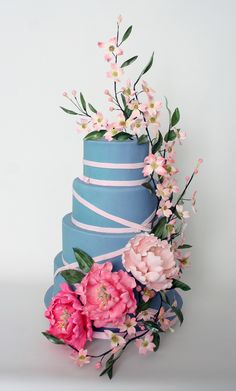 I don't think much of the blue, but the flowers and ribbon are quite sweet