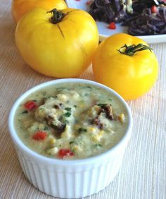 Raw Yellow Tomato Sauce (from Let Them Eat Vegan) by Plant-Powered Kitchen