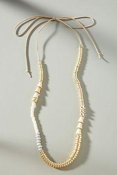 Sandra Beaded Tie Necklace