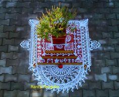 Rangoli Patterns, Rangoli Kolam Designs, Kolam Rangoli, Flower Rangoli, Diwali Decorations, Festival Decorations, Flower Decorations, Colorful Rangoli Designs, Beautiful Rangoli Designs