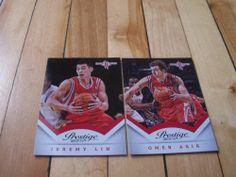 Jeremy Lin Omer Asik 2013 14 Panini Prestige Houston Rockets 2 Card Lot Mint | eBay