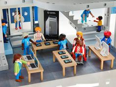 Playmobil apple store!!