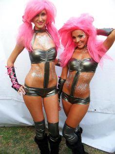 See! Monokini go-go dancer outfit!! EDM <3  GoGo Dancers  Nocturnal Wonderland TX 2012