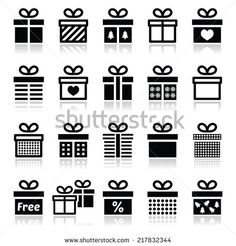 Present, gift box vector icons set  by RedKoala