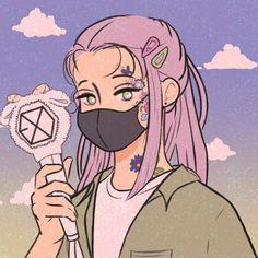 Lightstick Exo, Kpop Exo, Exo Cartoon, Exo Stickers, Exo Anime, Isometric Art, Exo Fan Art, Disney Phone Wallpaper, Kpop Drawings