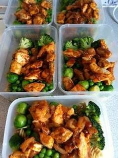images of healthy protein lunches | healthy lunches, batch cooking, chicken, protein | Mmmmmmm...