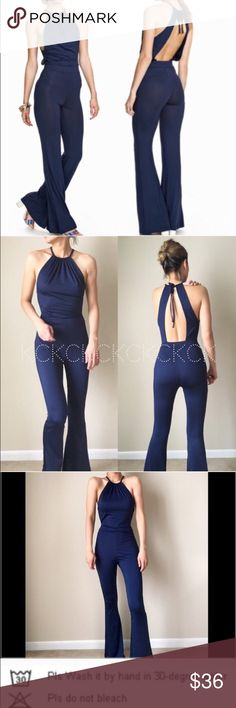 "Open back sexy must have jumpsuit Floor length sexy bare back jumpsuit . Tie behind the back with great frame trimming to show your sexy back .come size m and l. Size M first body size S/M .Model 5""7' , 34,25,36 for your reference. Well made and proper length; made to complement the body. 3%Spandex and 97%polyester. Size M; length 55"". Bust: 28""-51""(stretched), waist; 25""-33"", hips; 30""-54"". Size L . Length ; 56"". Bust ; 30"" -52""(stretched), waist; 27""-35""( stretched), hips…"