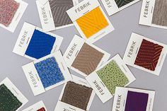 Raw Color design slick identity for interior textiles brand Febrik via It's Nice That