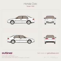 Pre-Painted to Match Right Passenger Fender 04-05 Honda Civic sedan coupe hb