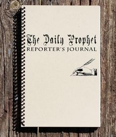 Harry Potter Inspired Journal - Harry Potter Inspired Notebook - The Daily Prophet