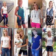How My Mornings Go {Week Three #moms30for30} Stay at home mom fashion during a 30 day challenge of wearing only 30 items.
