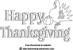 happy thanksgiving coloring poster