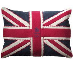 Linen Team GB Union Jack cushion.