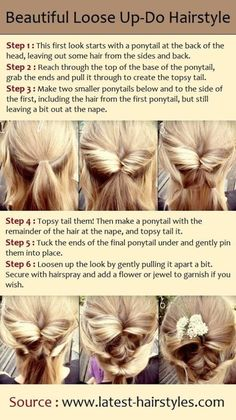 Beautiful loose up-do hairstyle