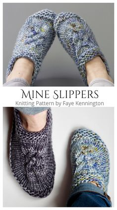 Arm Knitting, Knitting Socks, Cable Knitting Patterns, Knit Patterns, Knit Slippers Free Pattern, Knitted Slippers, Knitting Projects, Knitting Ideas, Yarns