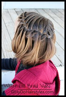 Girly Do Hairstyles: By Jenn: Waterfall Braid VIDEO/Tutorial