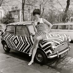 1960's Op Art fashion shoot
